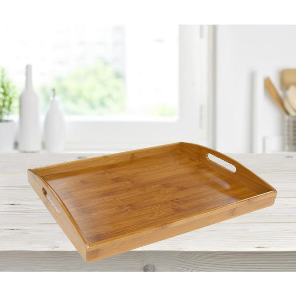 Home Basics 16.87 in. x 11.62 in. x 2.25 in. Home Basics Serving Tray