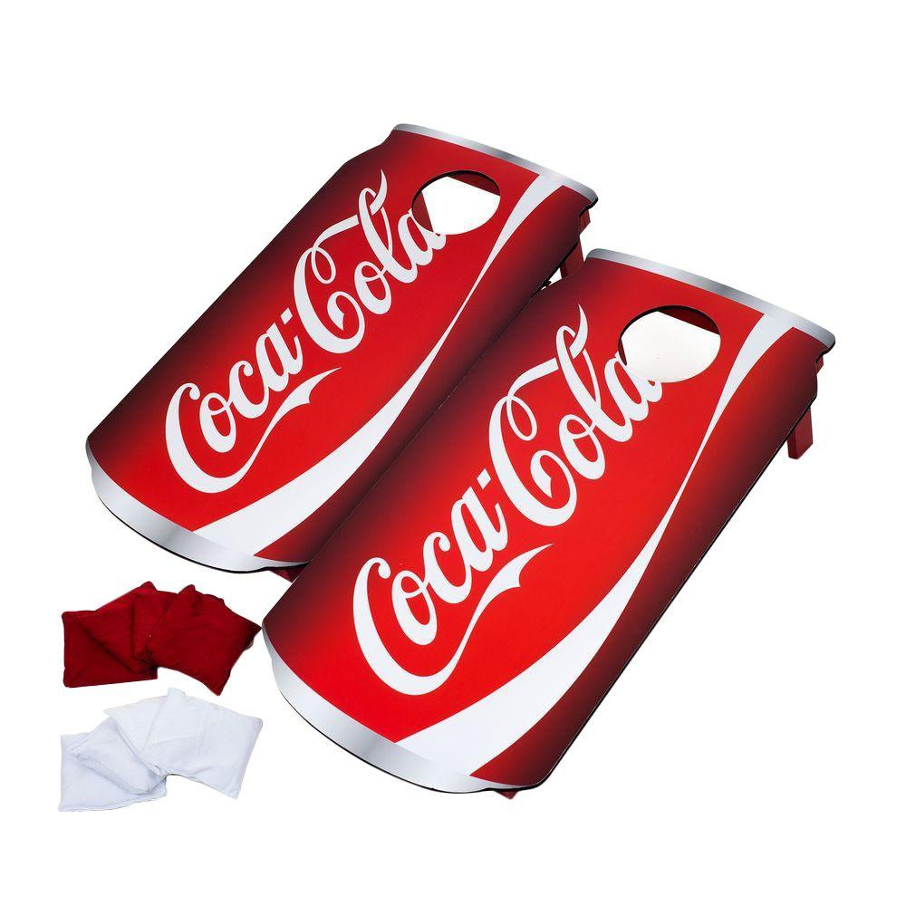 Wooden Corn Hole Game Trademark Games CocaCola Wood Cornhole Toss Game Set41BBT41 34