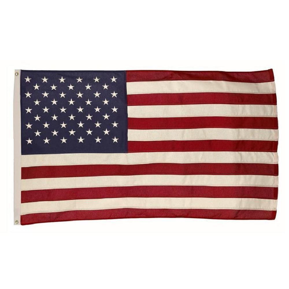 Valley Forge Flag 3 ft. x 5 ft. Cotton U.S. Flag