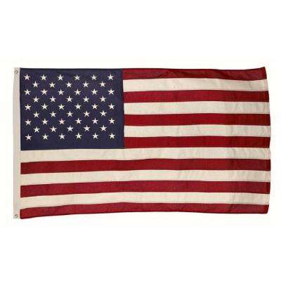 3 ft. x 5 ft. Cotton U.S. Flag