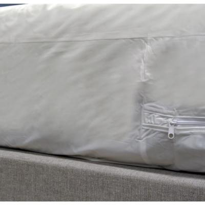 Queen 9 in. 6-Gauge Bed Bug, Dust Mite, and Allergen Proof Vinyl Mattress or Box Spring Zip Cover Encasement