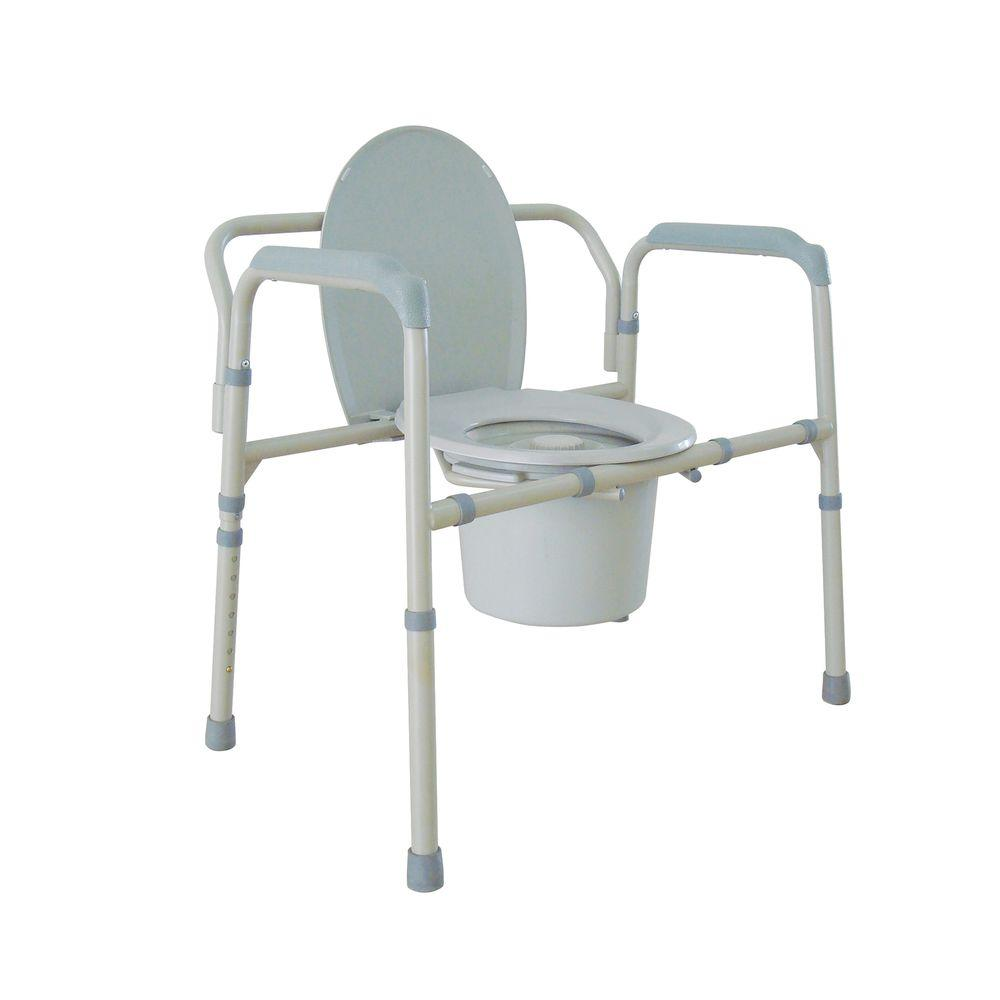 """Drive Medical Bariatric Commode Chair W/arms Toilet Seat Medical Potty 21"""" 650lb"""