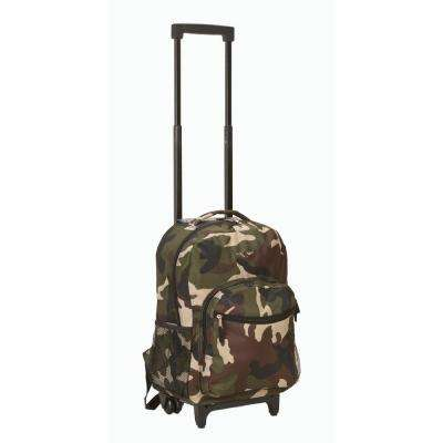 Rockland Roadster 17 in. Rolling Backpack, Camo