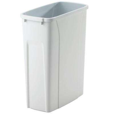 16 in. H x 14 in. W x 7 in. D Plastic 20 Qt. Replacement Pull-Out Trash Can in White