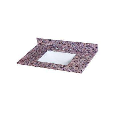 37 in. Stone Effects Vanity Top in Capri with White Sink