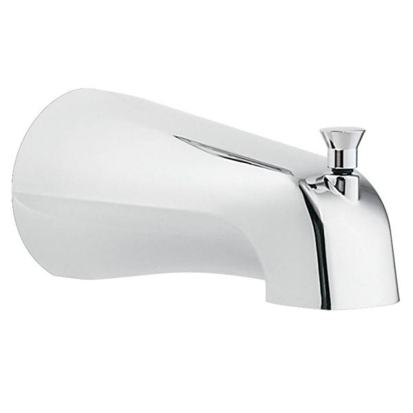 Diverter Tub Spout with Slip Fit Connection in Chrome