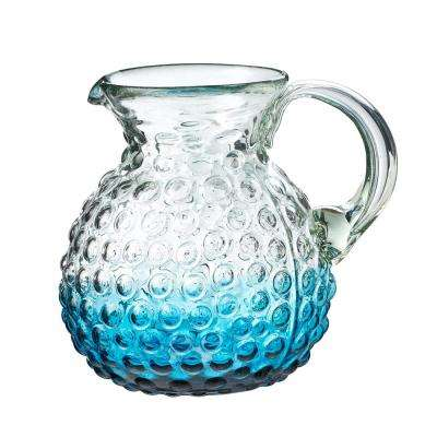 Catalina 80 oz. Aqua Glass Hobnail Pitcher with Ombre
