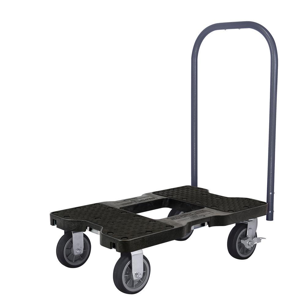 1,500 lbs. Capacity All-Terrain Professional E-Track Push Cart Dolly in Black