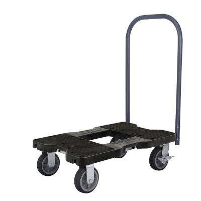 1,500 lbs. Capacity All-Terrain Professional E-Track Push Cart Dolly in Black