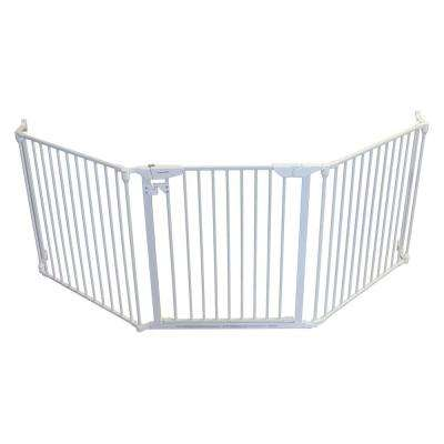 XpandaGate 29.5 in. H x 100 in. W x 2 in. D Expandable Child Safety Gate, White