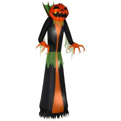 12 ft. Pre-Lit Inflatable GhostFlame Wicked Pumpkin Creeper (RRPm) Airblown