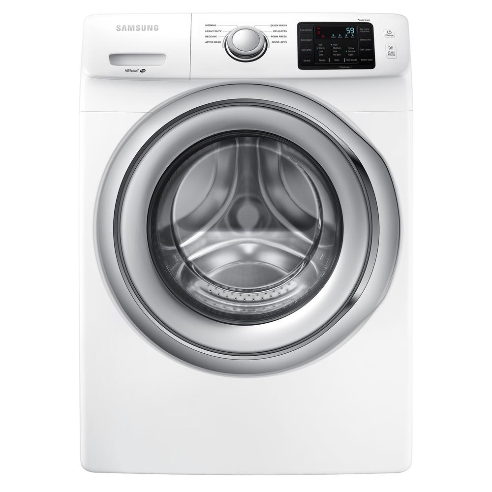 Samsung 4 5 Cu Ft High Efficiency Front Load Washer In White Energy Star