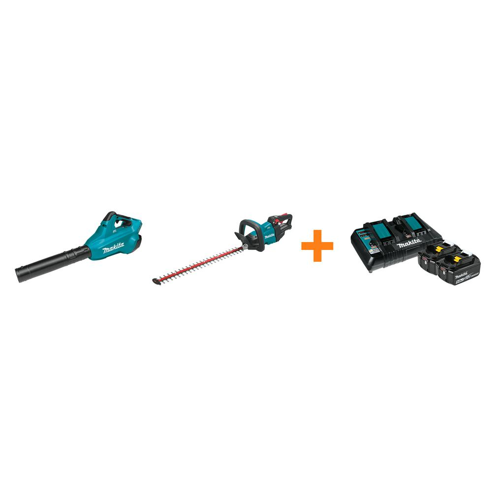 Makita 18V X2 LXT Blower and 18V LXT 24 in. Hedge Trimmer with bonus 18V LXT Starter Pack was $747.0 now $468.0 (37.0% off)