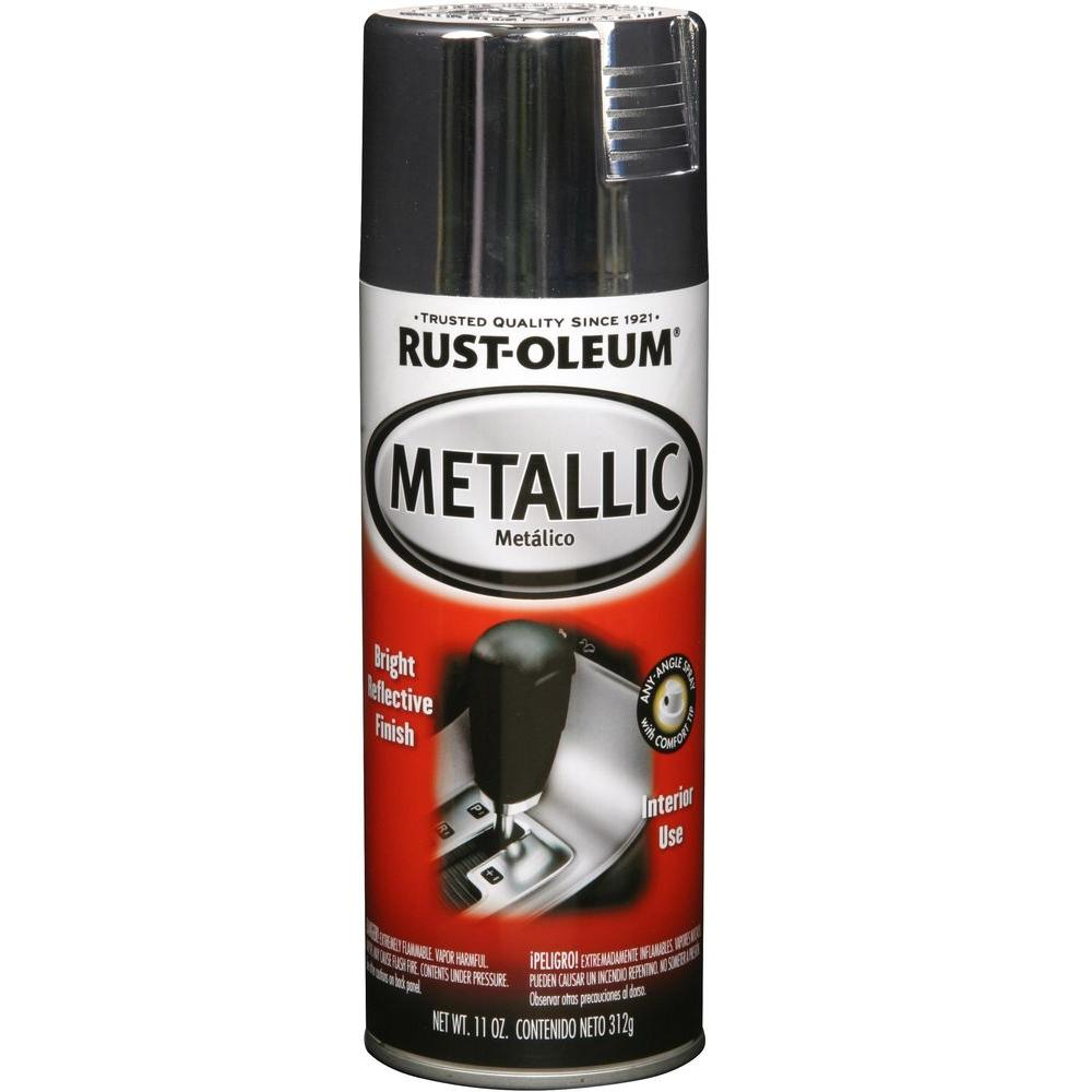 11 oz. Gloss Silver Metallic Spray Paint