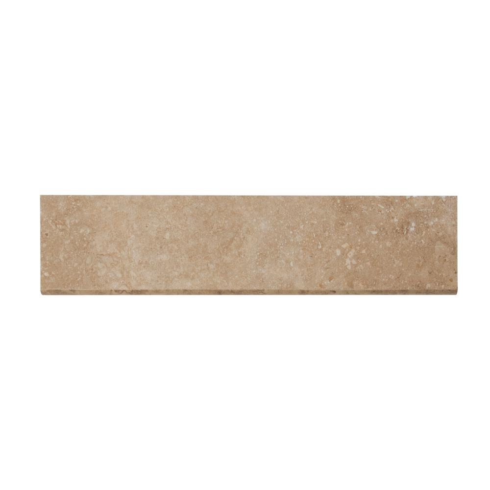 MSI Napa Noce Bullnose 3 in. x 13 in. Glazed Ceramic Wall Tile (10.83 lin. ft. / case)