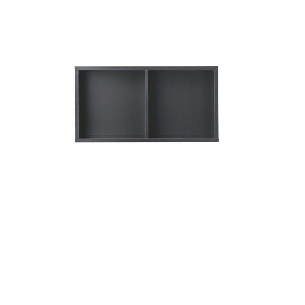 Beau W Black 2 Cubby Storage Unit