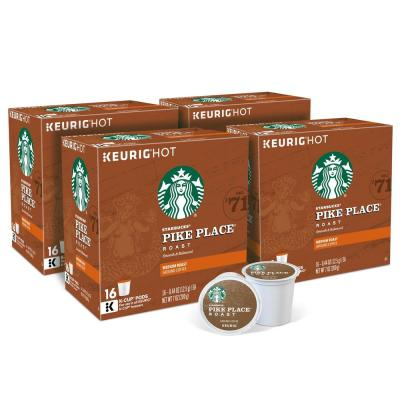Starbucks Pike Place K-Cups (64-Counts)