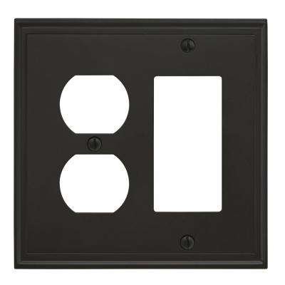 Mulholland 1 Rocker, 1 Receptacle Black Bronze Wall Plate