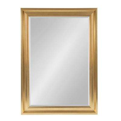 Umber Rectangle Gold Wall Mirror