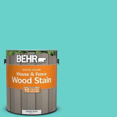1 gal. #P450-4 Hidden Sea Glass Solid House and Fence Exterior Wood Stain