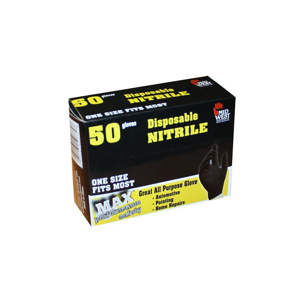 Disp Light-Duty Bl Nitrile 50 Per Box