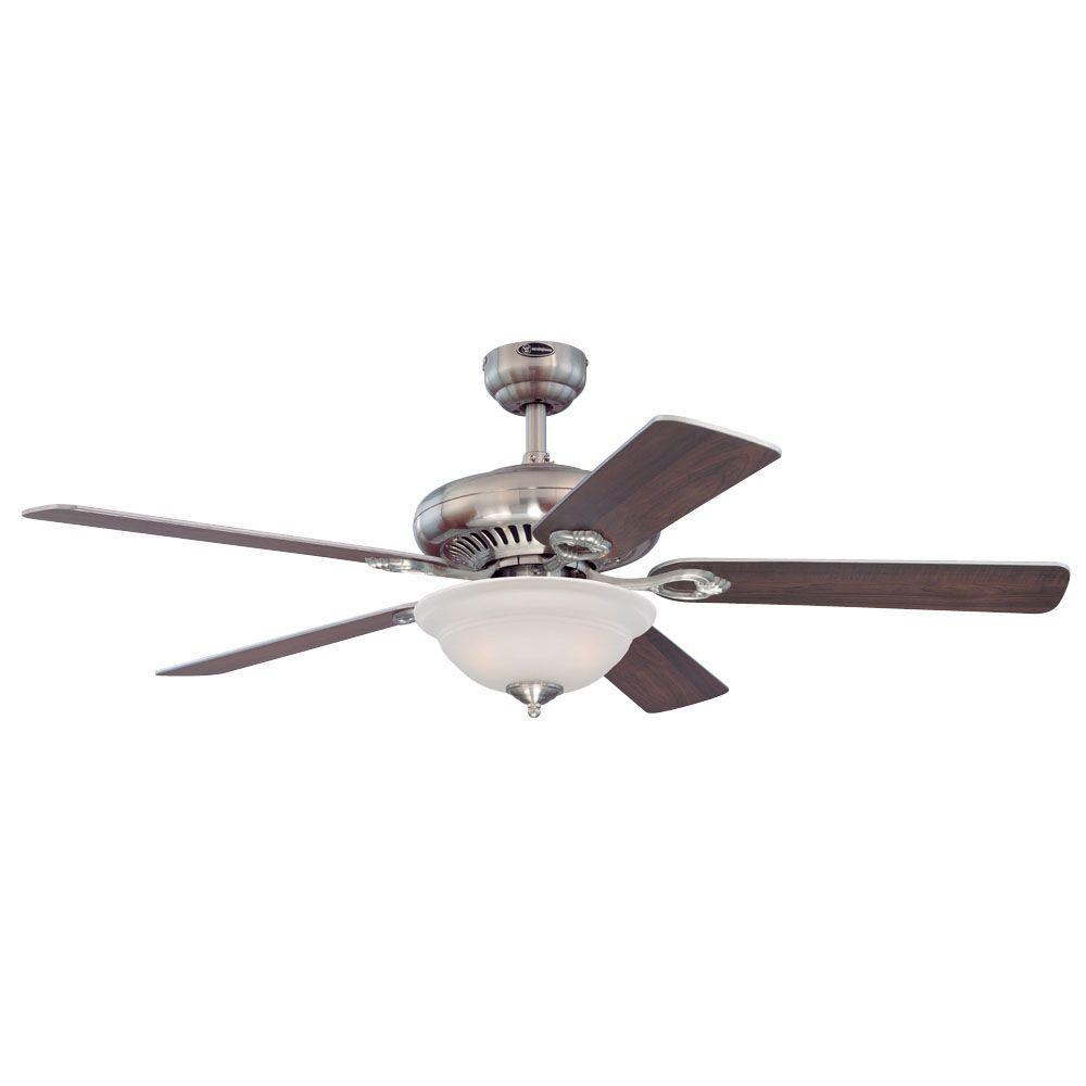 Fairview 52 in. Brushed Nickel Indoor Ceiling Fan