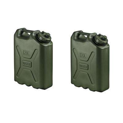 BPA Durable 5 Gal. Portable Water Storage Container Green (2-Pack)