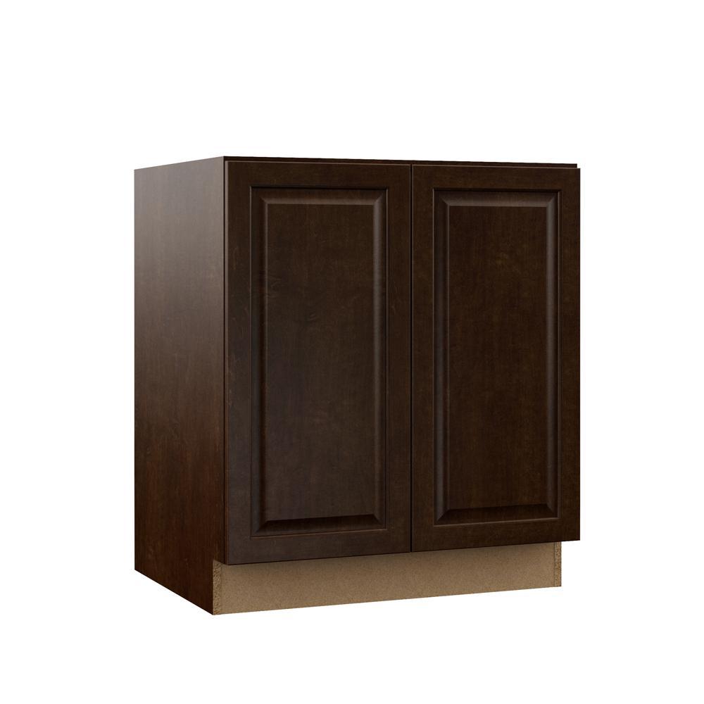 Gretna Assembled 30x34.5x21 in. Full Door Height Bathroom Vanity Base Cabinet in Espresso