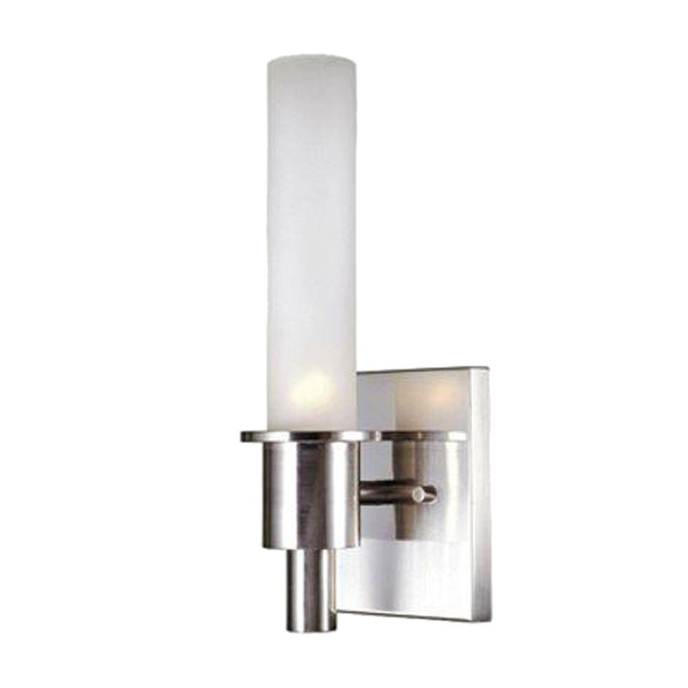 World Imports 1-Light Satin Nickel Wall Sconce-DISCONTINUED