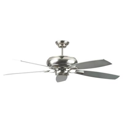 Roosevelt Series 52 in. Indoor Stainless Steel Ceiling Fan