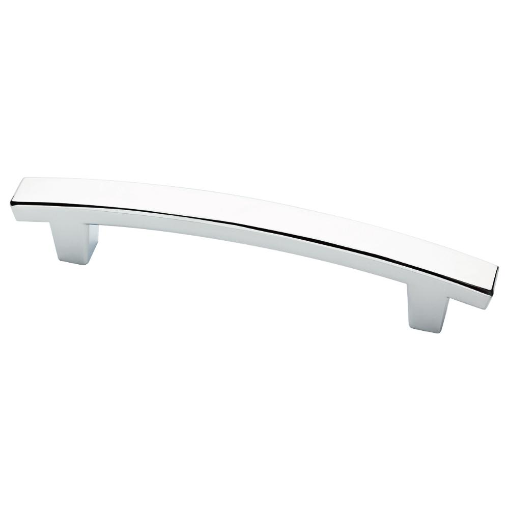 Pierce 4 in. (102mm) Polished Chrome Cabinet Pull