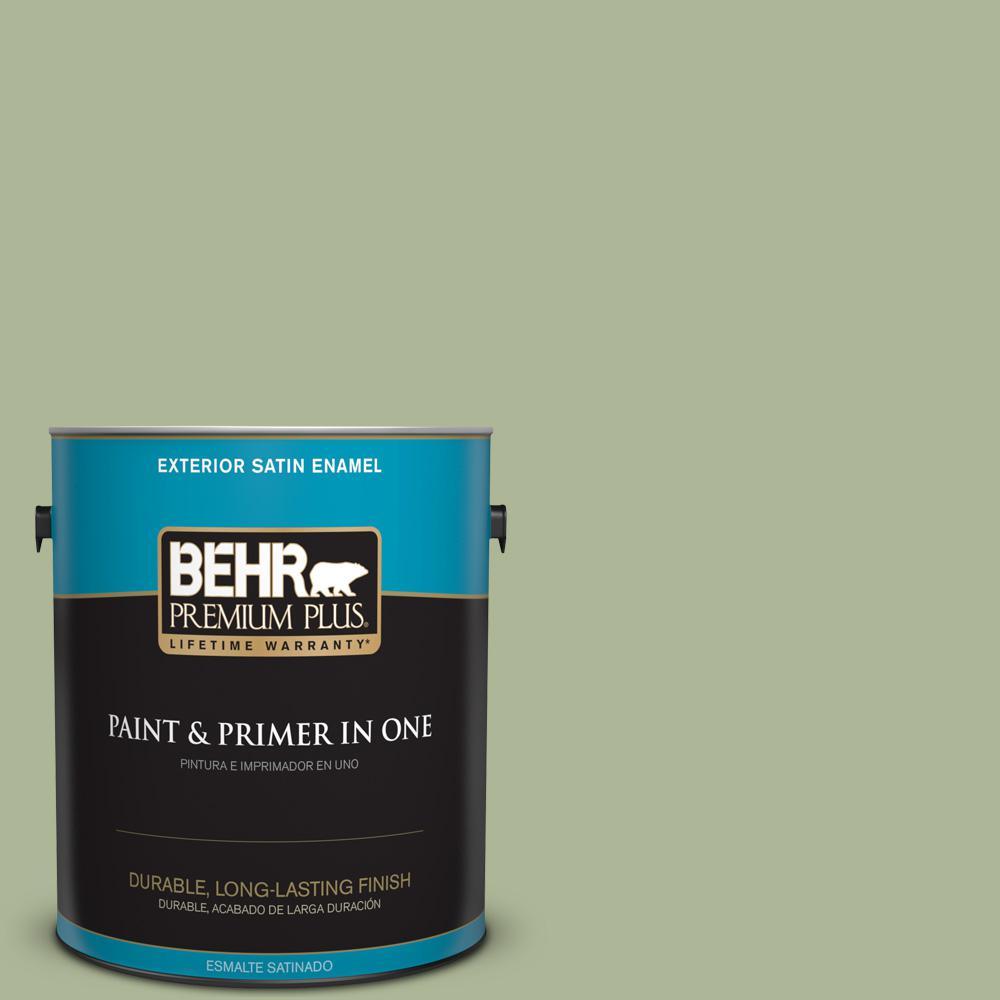 1 gal. #PPU11-08 Moss Print Satin Enamel Exterior Paint