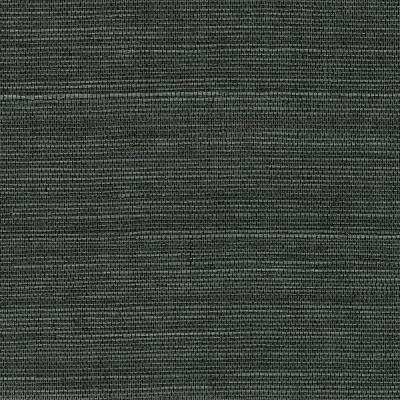 Kowloon Charcoal Sisal Grass Cloth Wallpaper