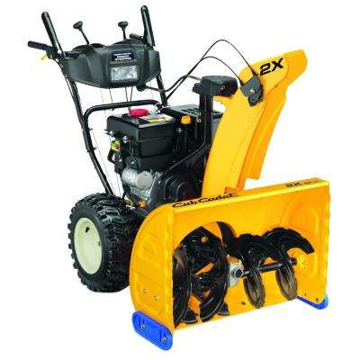 2X 28 in. 277cc 2-Stage Electric Start Gas Snow Blower with Power Steering and Steel Chute