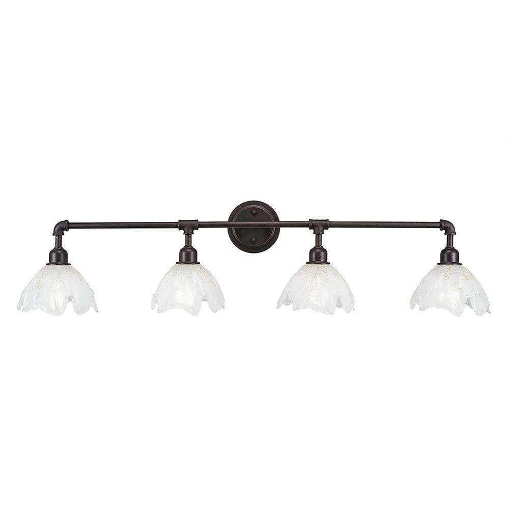 Filament Design 4-Light Dark Granite Bath Light