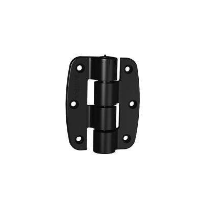 2 in. Compact Polymer Butterfly Black Hinge Kit (2-Pack)