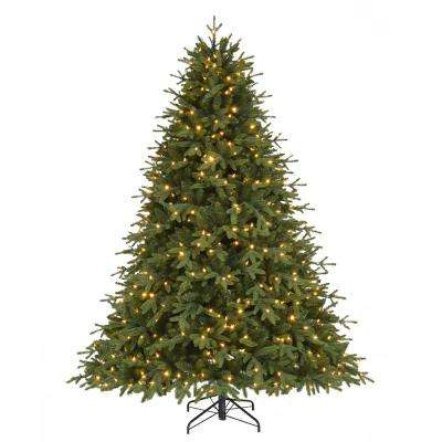 7.5 ft. Pre-Lit LED Monterey Fir Quick Set Artificial Christmas with Color Changing Lights