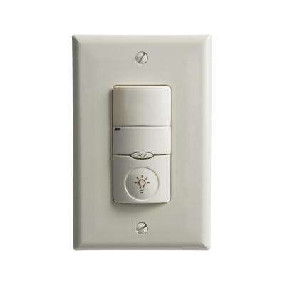 NeoSwitch PIR/Single Level Wall Switch 1000 sq. ft. Occupancy Sensor Ground Required, Light Almond