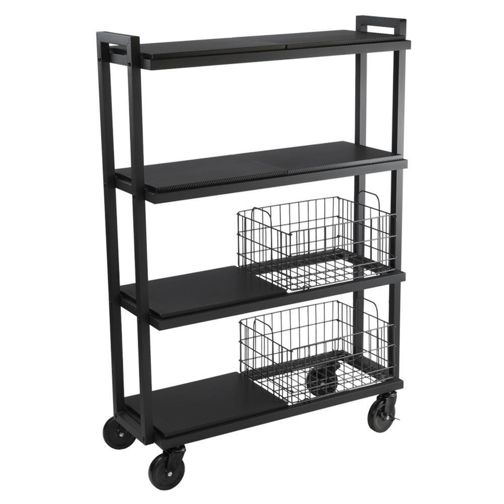 Atlantic 4-Tier Steel Cart System Wide in Black