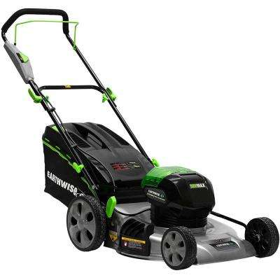 21 in. 58-Volt Lithium-Ion Cordless Walk Behind Push Lawn Mower with 4Ah Battery Included
