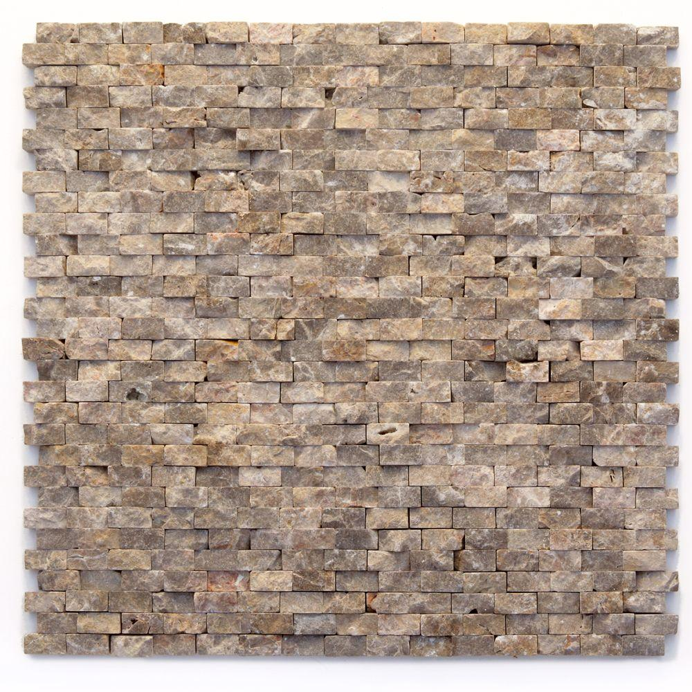 Solistone Modern Opera 12 in. x 12 in. x 9.5 mm Marble Natural ...