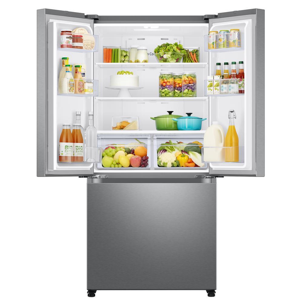 18 cu. ft. Smart Counter Depth 3-Door French Door Refrigerator